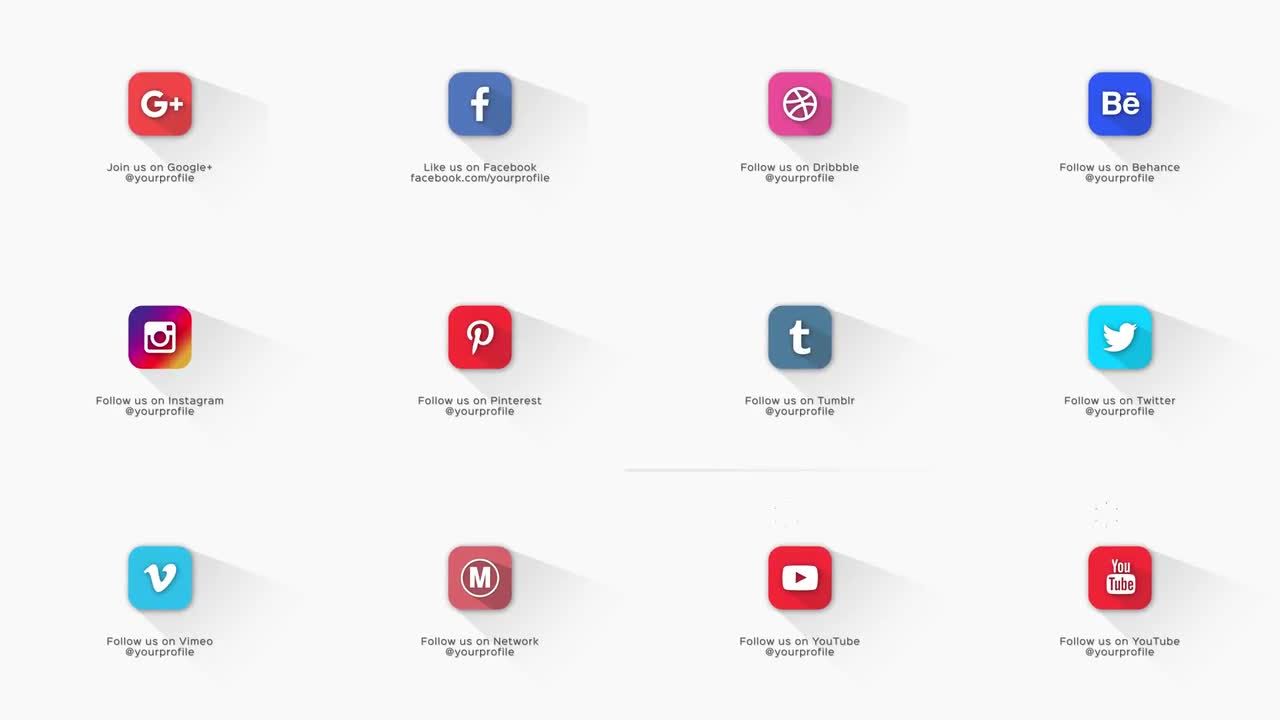 Social Media Pack After Effects Templates Motion Array