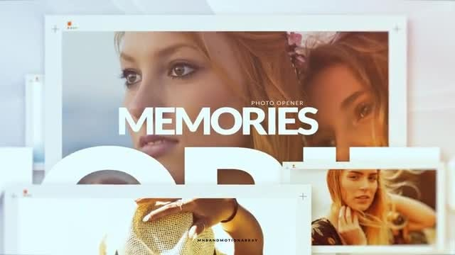 Memories Photo Opener: After Effects Templates
