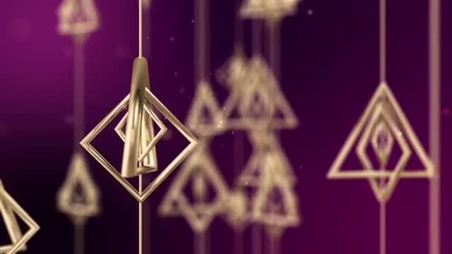 Dangling Geometric Shapes: Stock Motion Graphics