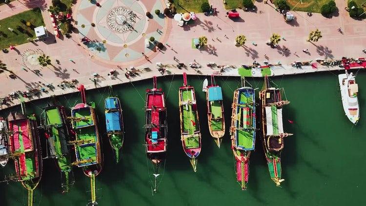 Colorful  Sea Port: Stock Video