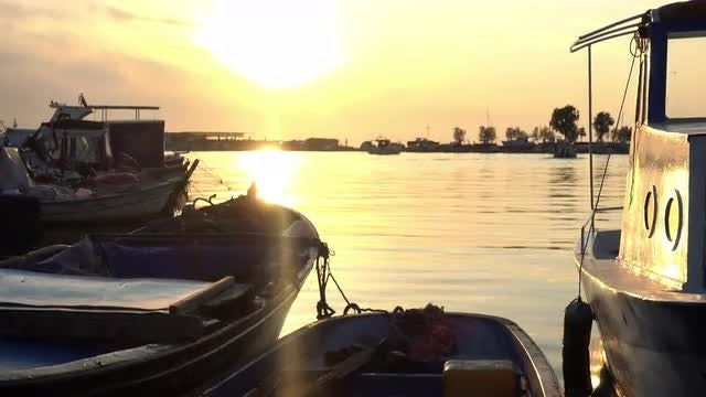 Sunset At The Marina: Stock Video