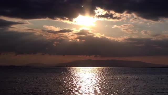 Dark Cloudy Seascape: Stock Video