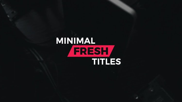 12 Fresh minimal titles: After Effects Templates