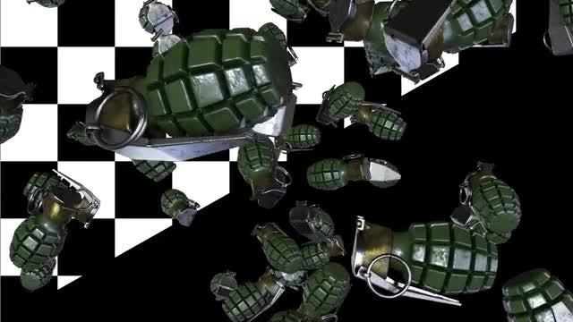 Falling Grenades Loop: Stock Motion Graphics