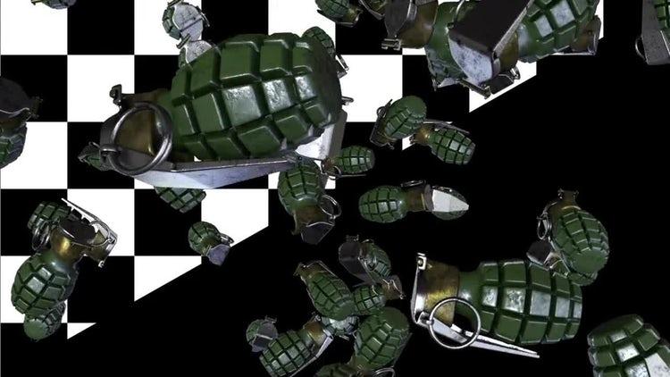 Falling Grenades Loop: Motion Graphics