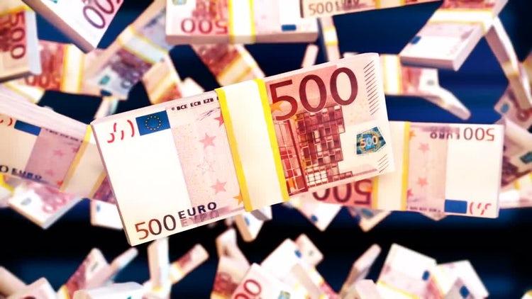Euro Bills: Stock Motion Graphics