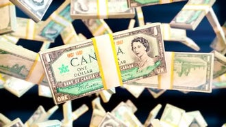 Canadian Dollar Bills: Motion Graphics