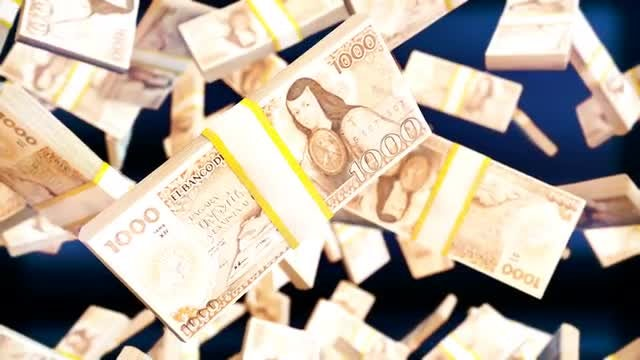 Mexican Peso Bills: Stock Motion Graphics