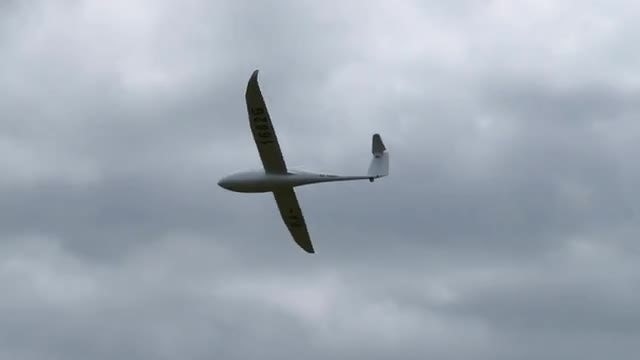 Sailplane In The Sky: Stock Video