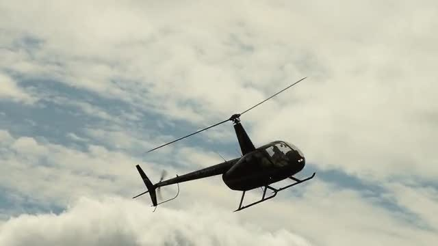 Light Helicopter Flying: Stock Video