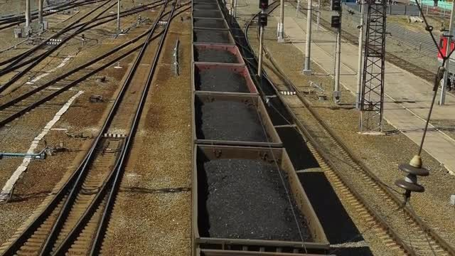 Train Loaded With Coal: Stock Video