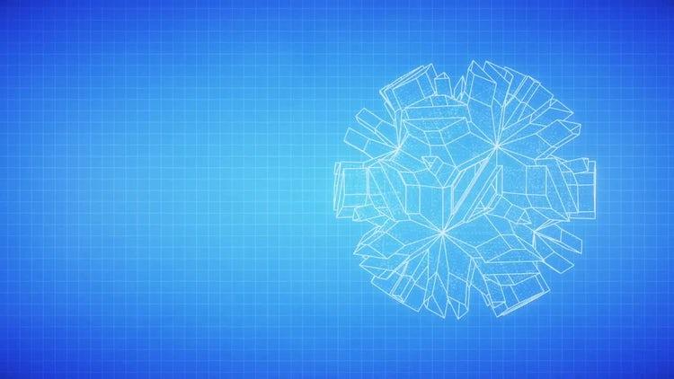 Holographic Blueprint: Stock Motion Graphics