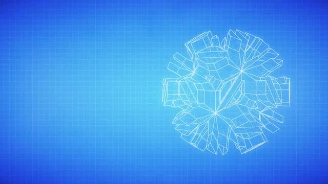 Holographic Blueprint: Stock Motion Graphics