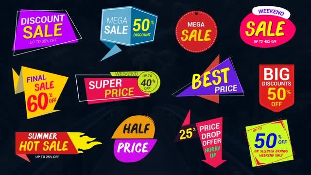 Sale Lables & Badges-2: After Effects Templates