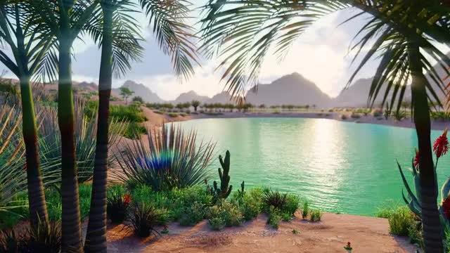 Tropical Landscape: Stock Motion Graphics