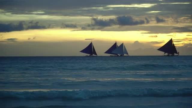 Sunset Over Boracay: Stock Video