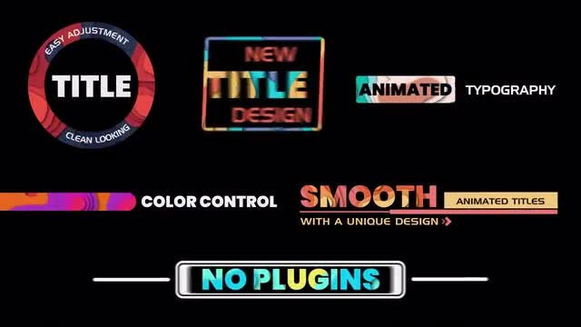 Colorful Title Animation: After Effects Templates