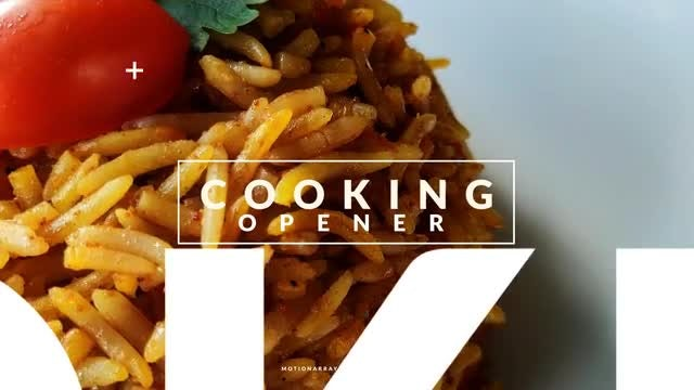 Cooking Opener: After Effects Templates