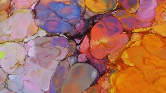 Psychedelic Marbled Paint: Stock Video