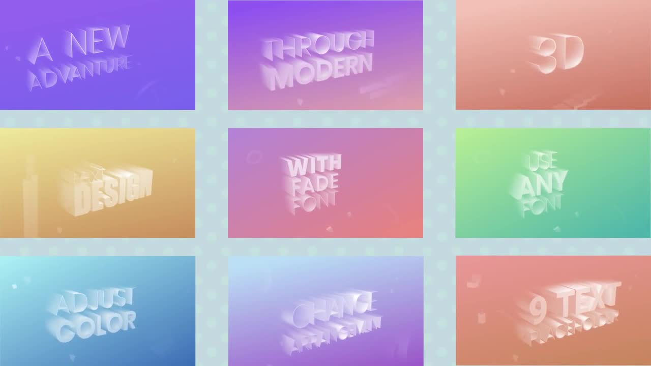 3D Faded Text Animation - Motion Graphics Templates | Motion