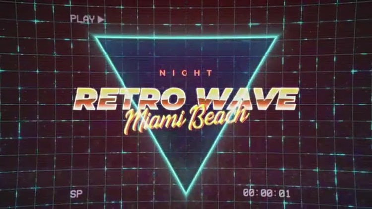 Retro Wave Intro 1: Motion Graphics Templates