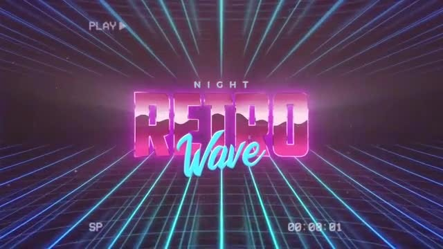 Retro Wave Intro 2: Motion Graphics Templates