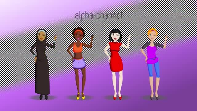 Female Characters: Stock Motion Graphics