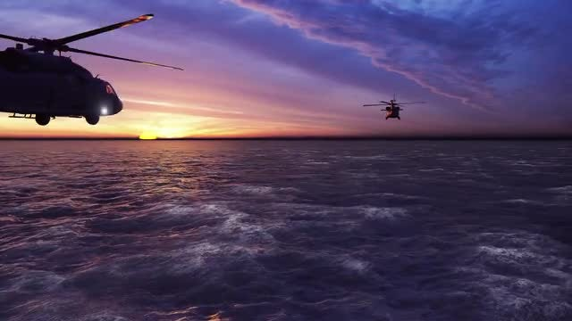 Helicopters: Stock Motion Graphics