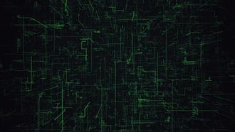 Green Digital Grid Background: Motion Graphics