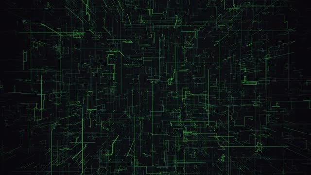 Green Digital Grid Background: Stock Motion Graphics