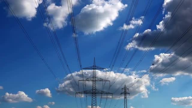 Electric Pylon Poles: Stock Video