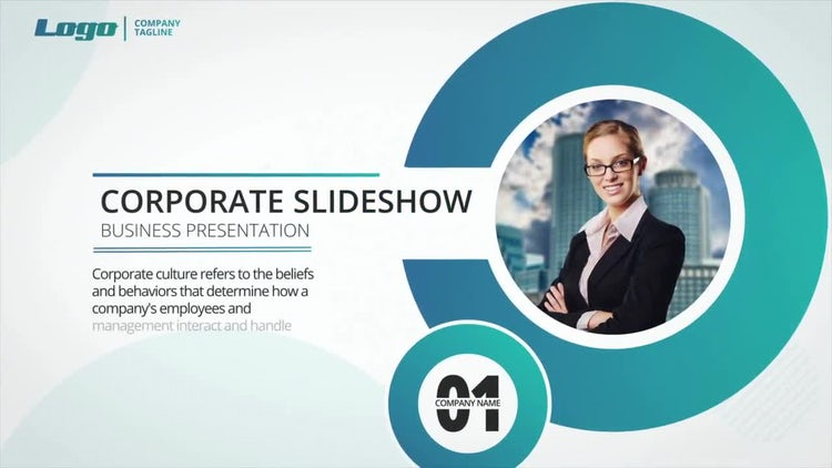 Circle Corporate Slideshow: After Effects Templates