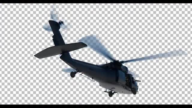 Military Helicopter: Stock Motion Graphics