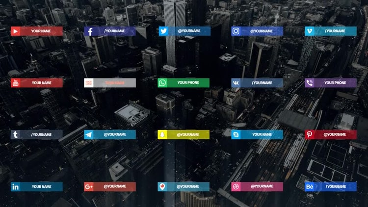 20 Social Media Lowerthirds: After Effects Templates