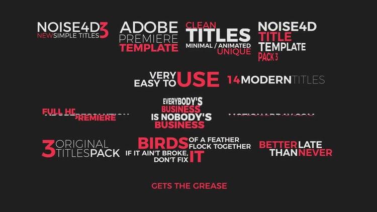 14 Simple Titles 3: Premiere Pro Templates