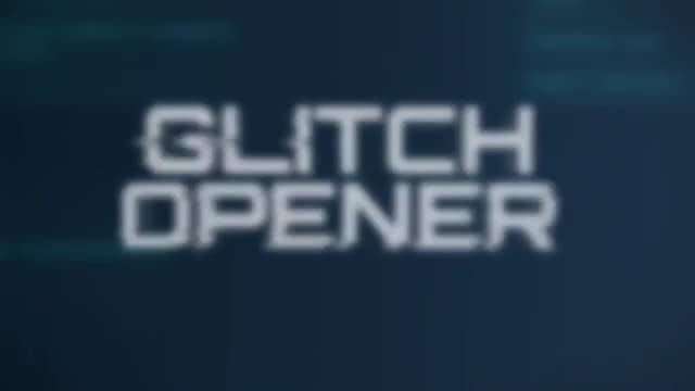 Glitch Opener: Motion Graphics Templates