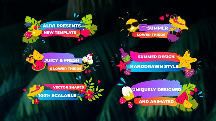 Summer Lower Thirds: After Effects Templates
