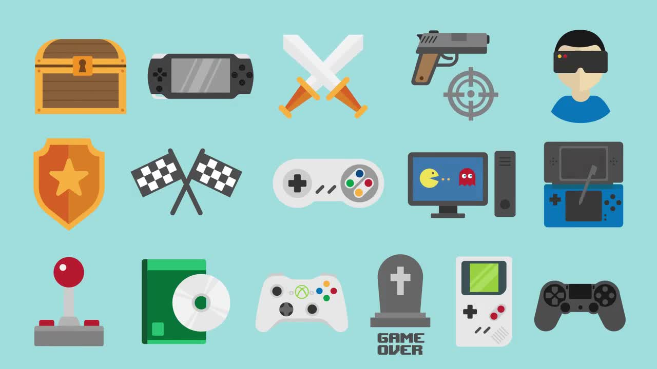Video Games - Stock Motion Graphics | Motion Array