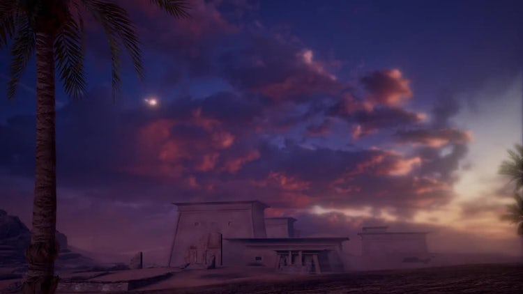 In The Egypt Desert: Stock Motion Graphics