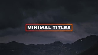 14 Colorful Minimal Titles: After Effects Templates