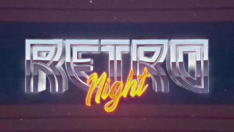 Retro Wave Intro 5: Motion Graphics Templates