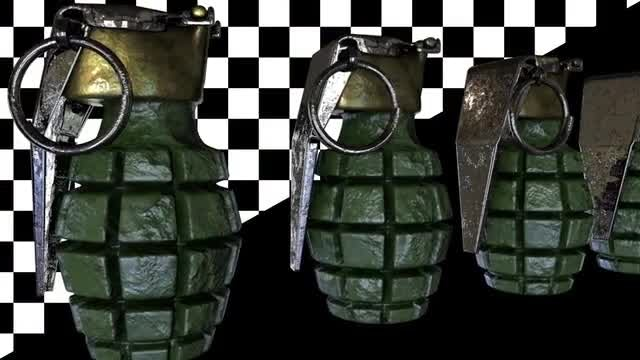 Grenades Loop: Stock Motion Graphics