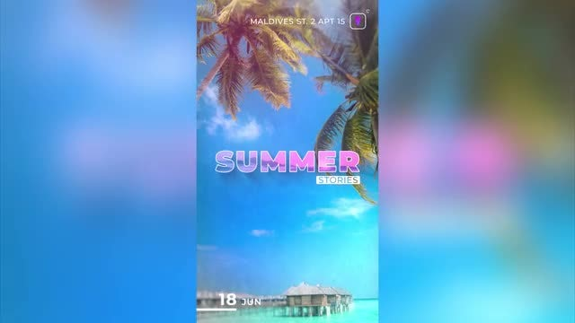 Summer Story Instagram: After Effects Templates