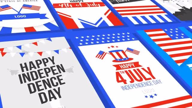 4th Of July Greetings: After Effects Templates
