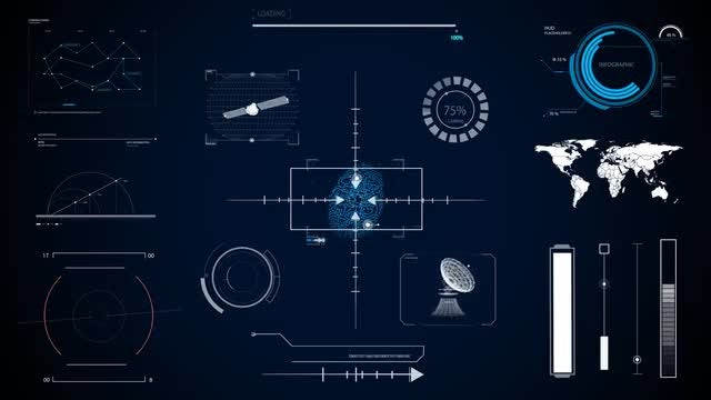 Technology Hud Screens: Stock Motion Graphics