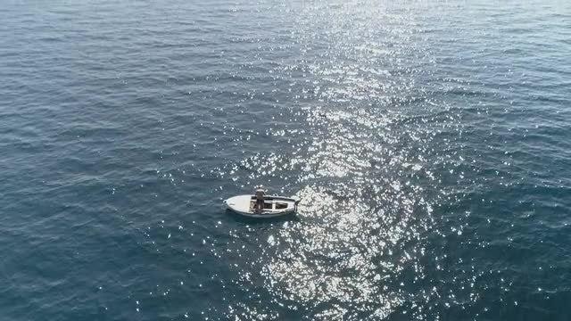Fisherman On Boat: Stock Video