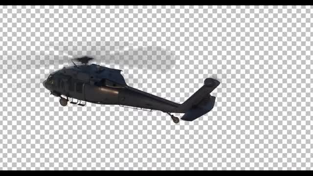 Flying Chopper: Stock Motion Graphics
