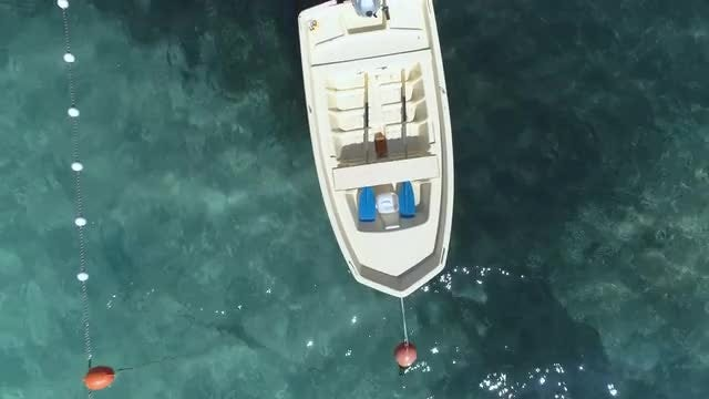 Empty Floating Boat: Stock Video
