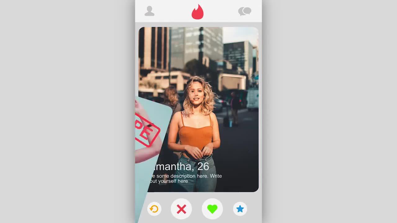 Mockup psd tinder Tinder app