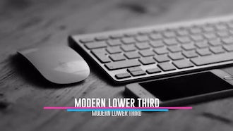 10 Modern Thirds: After Effects Templates